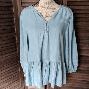 New! American Eagle Lightwashed Blouse-L
